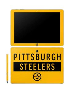 Pittsburgh Steelers Yellow Performance Series Galaxy Book 10.6in Skin