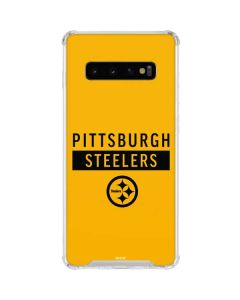 Pittsburgh Steelers Yellow Performance Series Galaxy S10 Clear Case