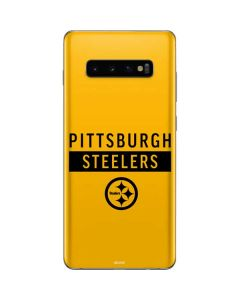 Pittsburgh Steelers Yellow Performance Series Galaxy S10 Plus Skin