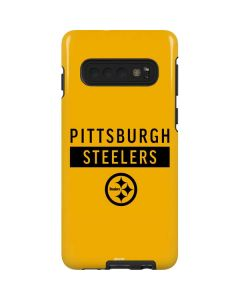 Pittsburgh Steelers Yellow Performance Series Galaxy S10 Pro Case