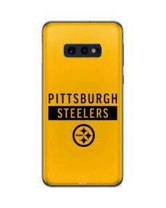 Pittsburgh Steelers Yellow Performance Series Galaxy S10e Skin