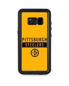 Pittsburgh Steelers Yellow Performance Series Galaxy S8 Plus Waterproof Case