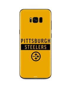 Pittsburgh Steelers Yellow Performance Series Galaxy S8 Skin