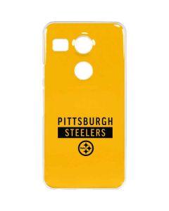 Pittsburgh Steelers Yellow Performance Series Google Nexus 5X Clear Case
