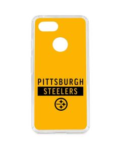 Pittsburgh Steelers Yellow Performance Series Google Pixel 3 Clear Case