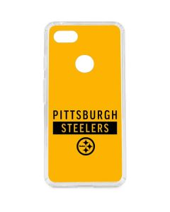 Pittsburgh Steelers Yellow Performance Series Google Pixel 3 XL Clear Case