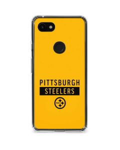 Pittsburgh Steelers Yellow Performance Series Google Pixel 3a XL Clear Case