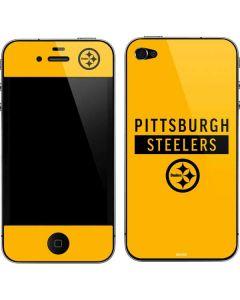 Pittsburgh Steelers Yellow Performance Series iPhone 4&4s Skin