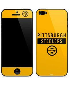 Pittsburgh Steelers Yellow Performance Series iPhone 5/5s/SE Skin