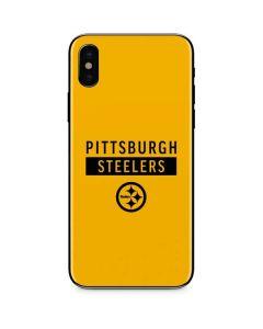 Pittsburgh Steelers Yellow Performance Series iPhone XS Skin