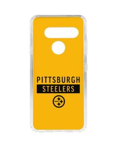 Pittsburgh Steelers Yellow Performance Series LG V40 ThinQ Clear Case