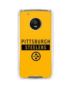 Pittsburgh Steelers Yellow Performance Series Moto G5 Plus Clear Case