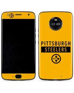 Pittsburgh Steelers Yellow Performance Series Moto X4 Skin