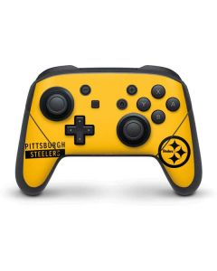 Pittsburgh Steelers Yellow Performance Series Nintendo Switch Pro Controller Skin