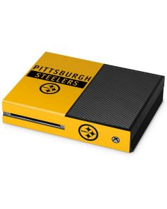 Pittsburgh Steelers Yellow Performance Series Xbox One Console Skin