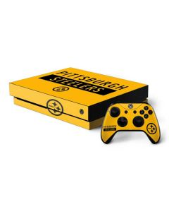 Pittsburgh Steelers Yellow Performance Series Xbox One X Bundle Skin