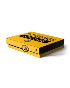 Pittsburgh Steelers Yellow Performance Series Xbox One X Console Skin
