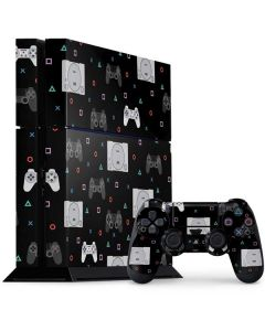 PlayStation Pattern PS4 Console and Controller Bundle Skin