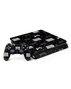 PlayStation Pattern PS4 Slim Bundle Skin
