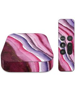 Plum Watercolor Geode Apple TV Skin