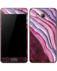 Plum Watercolor Geode Galaxy Grand Prime Skin