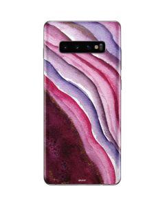 Plum Watercolor Geode Galaxy S10 Plus Skin
