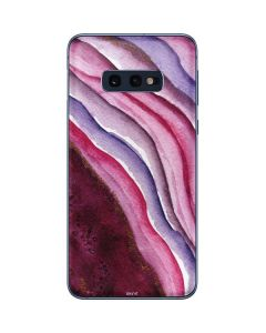 Plum Watercolor Geode Galaxy S10e Skin