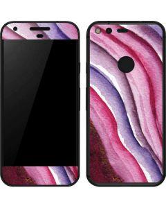 Plum Watercolor Geode Google Pixel Skin