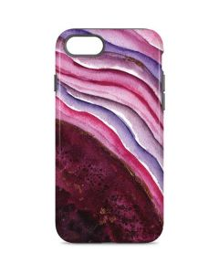 Plum Watercolor Geode iPhone 7 Pro Case