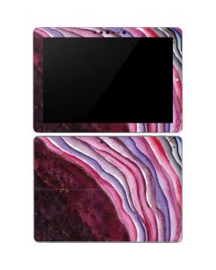 Plum Watercolor Geode Surface Go Skin