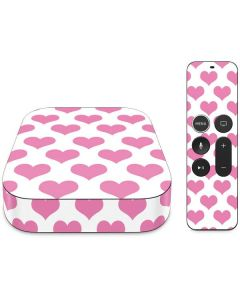 Plush Pink Hearts Apple TV Skin