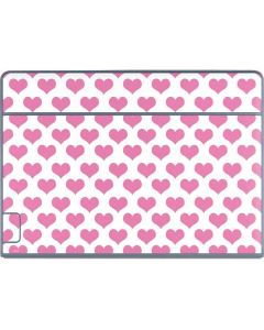 Plush Pink Hearts Galaxy Book Keyboard Folio 12in Skin