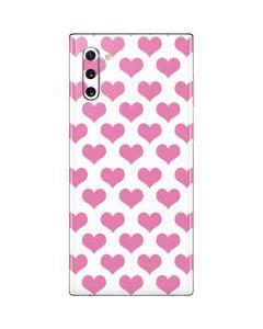 Plush Pink Hearts Galaxy Note 10 Skin