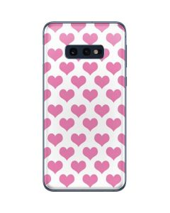 Plush Pink Hearts Galaxy S10e Skin