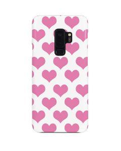 Plush Pink Hearts Galaxy S9 Plus Lite Case