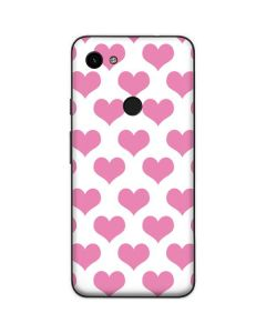 Plush Pink Hearts Google Pixel 3a Skin