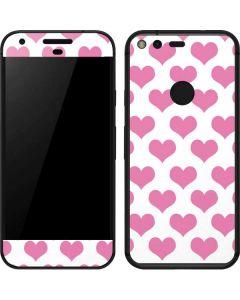 Plush Pink Hearts Google Pixel Skin