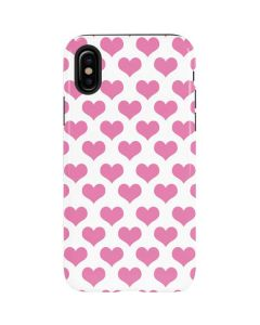 Plush Pink Hearts iPhone X Pro Case