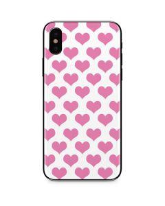 Plush Pink Hearts iPhone X Skin