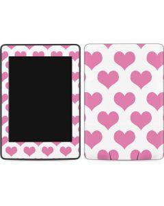 Plush Pink Hearts Amazon Kindle Skin