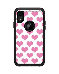 Plush Pink Hearts Otterbox Defender iPhone Skin