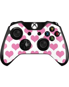 Plush Pink Hearts Xbox One Controller Skin