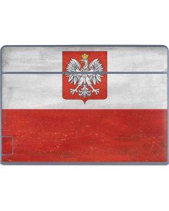Poland Flag Distressed Galaxy Book Keyboard Folio 12in Skin