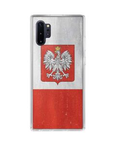 Poland Flag Distressed Galaxy Note 10 Plus Clear Case