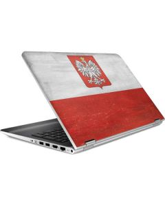 Poland Flag Distressed HP Pavilion Skin
