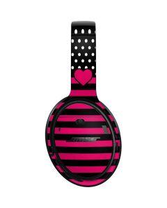 Polka Dots and Stripes Heart in Pink Bose QuietComfort 35 II Headphones Skin
