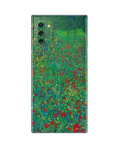Poppy Field by Gustav Klimt Galaxy Note 10 Skin