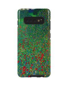 Poppy Field by Gustav Klimt Galaxy S10 Plus Pro Case