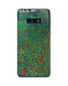 Poppy Field by Gustav Klimt Galaxy S10e Skin