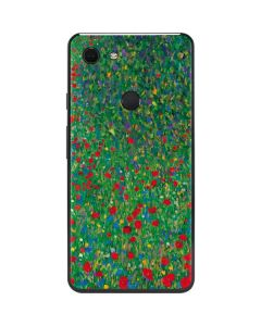 Poppy Field by Gustav Klimt Google Pixel 3 XL Skin
